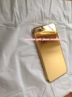 Real Gold Diamond Plating Back Housing Cover Skin Batterie Porte pour iPhone 7 7+ 100% réel 24k Gold logement pour iphone7 téléphone