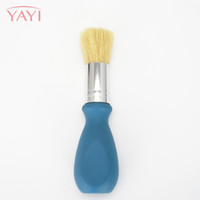 Wholesale Pig Bristle - Beauty For Man Cleaning Brush With Pig Hair Wooden Washing Beard Brushes Makeup Tool Exfoliator Brush For Beginners Portable Facial Brush