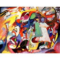 Wholesale Kandinsky Abstract Paintings - Hand painted wall picture Wassily Kandinsky paintings All Saints Day l modern Canvas art hand-painted