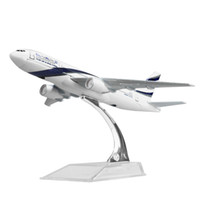Wholesale Al Alloys - New hot sale 1:400 EL AL Israel Airlines Boeing 777 16cm alloy metal model aircraft child Birthday gift plane models chiristmas gift