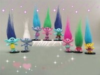 Hot Sale 8pcs / set Trolls PVC Figuras de ação Brinquedos 7-9cm Poppy Branch Biggie Collection Dolls para crianças Figuras Model Toys