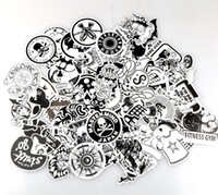 Wholesale Pieces Automobiles - Personality Scrawl Stickers Black And White Cartoon Doodle Sticker Automobile Motorcycle Draw Bar Box Decorative Decals Wall Room 7 06xq A