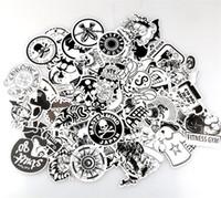 ingrosso scatola dei motocicli-Adesivi scarabocchio di personalità in bianco e nero Cartoon Doodle Sticker Automobile Moto Draw Bar Box decalcomanie decorativi Wall Room 7 06xq A