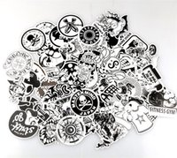 Wholesale motorcycle doodle stickers resale online - Personality Scrawl Stickers Black And White Cartoon Doodle Sticker Automobile Motorcycle Draw Bar Box Decorative Decals Wall Room xq A
