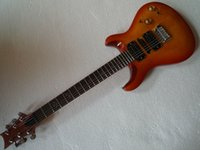 Wholesale Quilt Maple Guitar - New arrive Orange quilt Top, Maple fingerboard electric guitar