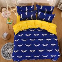 Wholesale Batman Twin Bedding - bedding sets Batman bed set blue and white twin full queen king 3 4pcs bedclothes duvet cover bedlinen bedclothes