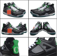 Wholesale Sport Shoes Man New Model - New Model High Quality Retro 4 IV Oregon Ducks Men's Basketball Sport Footwear Sneakers Trainers Shoes free shipping