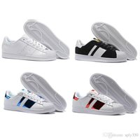 Wholesale 2017 New Arrival Superstar Shoes Running Classic Mens And Women Superstars Best Selling Sneakers Skateboarding Black Casual Shoes