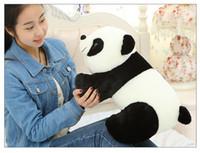 dev doldurulmuş oyuncak pandalar toptan satış-30 CM Yumuşak Dolması Oyuncaklar Hayvan Peluş Oyuncak Hediyeler Dev Panda Peluş Oyuncaklar Kung Fu Panda Bebekler Çocuklar Için Doğum Günü Hediyeleri