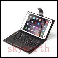 универсальный чехол для клавиатуры bluetooth оптовых-Универсальный 7 8 9 10 дюймов Беспроводная Bluetooth съемная клавиатура PU чехол для Android Windows Tablet с розничной коробке