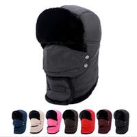 Wholesale winter bike hood for sale - Winter Mask Outdoor Thermal Warm Balaclava Hats Hood Skiing Cap Fleece Ski Bike Scarf Wind Stopper Ski Mask Hats Caps KKA3185