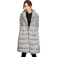 Wholesale Medium Down Jackets - 2017 Women's Jacket New Medium-Long Down Cotton Parka Plus Size Coat Women Winter Coat Down Cotton Padded Long Women Warm Outerwear CT001