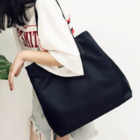 Wholesale Wind Shops - New Women Shoulder Bags College Winds handbag Lady Shopping Bag Polyester Horizontal Square Style Black Solid Color Youth Leisure