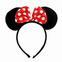 Wholesale Hen Night Headband - Wholesale-Minnie Mouse Ears Hen Nights Womens Girls Mickey Party Fancy Dress Headband BNIP