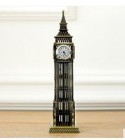 Wholesale London Model - A large British tourist souvenirs London landmark Big Ben classic decoration model alloy core