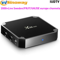 Wholesale mini box watches - Sweden IPTV Box Android TV Boxes X96 Mini With IPTV Europe IUDTV Watch Arabic French Spain Italy UK DE Indian TV Channels
