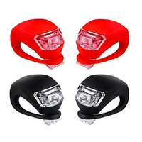 Wholesale Bike Led Headlight Silicone - Bicycle Light Front And Rear Silicone Led Bike Light Waterproof Headlight Taillight Night Riding Safety Lights Batteries Included