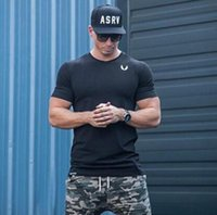 Wholesale Superman T Shirt Prints - Workout Clothes Cotton Superman Gyms T Shirts Plus size M-2XL Mens T-shirt Muscle Gyms Fitness Clothing Bodybuilding Tops