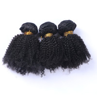 Wholesale Cheap Kinky Curly - Human Hair Wefts Kinky Curly Brazilian Hair Bundles 3pcs lot Unprocessed Cheap Brazilian Kinky Curly Hair 1B Natural Color Factory Price