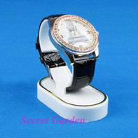 Wholesale wholesale plastic watch stand - Wholesale 20 White Plastic Watch Display Stand Holder