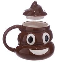 pacote de xícara de café venda por atacado-Design de Cerâmica 3D Caneca de Cocô Emoji Canecas Caneca de Café Xícara de Chá com Pacote de Caixa de Varejo Fedex Frete Grátis