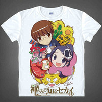 Wholesale God Only Knows - The World God Only Knows elsie T-shirts Haqua Cosplay Printed T Shirt Short Sleeve Tees Casual Aoyama Mio Summer Tops