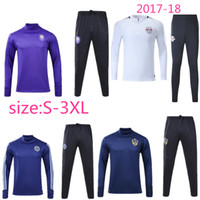 Wholesale Galaxy Suit - top Quality 17 18 Orlando Soccer Jersey training suit 2017 Galaxy training suit New York City soccer jersey Red cow fracksuit kit Surve
