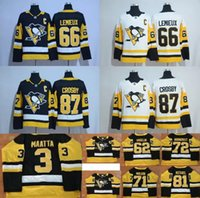 Wholesale White Polyester Spandex - 2017-2018 New Pittsburgh Penguins Hockey Jersey 66 Mario Lemieux 87 Sidney Crosby 81 Phil Kessel 3 Olli Maatta 71 Evgeni Malkin Jerseys