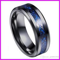 Wholesale Wholesale Titanium Women Wedding Bands - B051 Hot style Black gold carbon fiber dragon ring jewelry men titanium steel ring stainless steel domineering dragon ring for men women