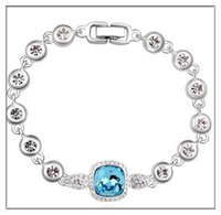 Wholesale Jewerly 925 Set For Women - NEW Jewerly 925 Sterling Silver Jewerly Bracelets ,natural crystal Margaret Lucky Love sliver chain for women free shipping