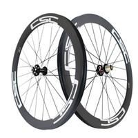 Wholesale Tubular Disc Cyclocross Wheels - 50mm Clincher Tubular Tubeless Disc brake cyclocross carbon bike wheels 23mm,25mm rim width 12x100mm,15x100mm 12x142mm Thru Axle