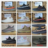Wholesale Original Sneakers Box - With Original box man shoes SPLY 350 v2 Boost 350V2 With Box 2017 NEW 9366 Running Shoes Sneakers 350 Boost V2 woman man shoes size 48