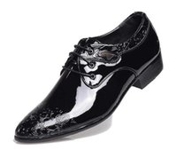 Wholesale Carved Wedge Shoes - 2017 New Fashion trendsetter Men Brogue carving Black Dress shoes Male Homecoming wedding Prom Sapato Social Masculino novio