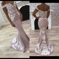 Wholesale Mermaid Prom Dress Cheap China - 2017 Off The Shoulder Mermaid Prom Dresses Long Cheap Embroidery Long Formal Party Evening Gowns Custom Made China EF4198