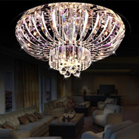Wholesale dinning room crystal chandelier - Modern fashion led crystal ceiling light lamp round double shell Chandeliers romantic bedroom dinning room lighting living room lights