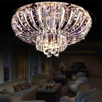 Doppelkristall Kronleuchter Schlafzimmer Großhandel Moderne Mode Führte  Kristall Decke Licht Lampe Runde Doppelte Schale