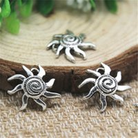 Wholesale Tibetan Design Pendant - 25pcs-Sun Charms , Antique Tibetan silver Wonderful Modern Design Sun Charms pendants 16x19mm