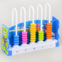 Wholesale Kids Computer Learning Toys - 12 lines Kids plastic toys child abacus counting beads math learning toy for children counting beads development ofintelligence