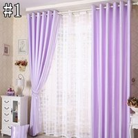 Wholesale Vertical Blinds Curtains - Sheer Curtain Blinds Bedroom Window Treatments Vertical Stripe Shape Window Shades Curtains And Blinds 42W 50W 72W 1 Set 2 Panels Curtain