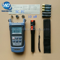 Wholesale Optics Kits - Wholesale- 2 In 1 FTTH Fiber Optic Tool Kit King-60S Optical Power Meter -70 to +10dBm and 10mW Visual Fault Locator Fiber optic test pen