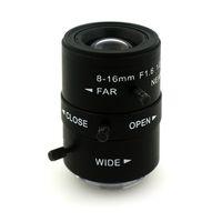 Wholesale iris hd - F1.6 1 2 8-16mm LENS C Mount Mega Pixel HD Industrial lens Vari-Focal Manual Iris CCTV Lens For CCTV Camera