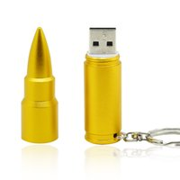 HanDisk metallo dorato bullet Pen Drive 128MB / 1/2/4/16/32/64 / 128gb Usb Flash Drive Disco esterno Memory Stick EU035