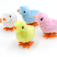 Wholesale Toy Wind Up Chickens - 100Pcs Children Kid Baby Yellow Fuzzy Chicken Walking Chick Educational Funny Toy Wind-Up For Easter Developmental Baby Toys