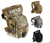 Wholesale Drop Leg Holsters Bags - 600D Tactical Outdoor Sport Ride Leg Bag Special Waterproof Drop Utility Thigh Pouch holster