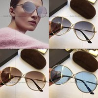 Wholesale Contact Frames - TF056 Sunglasses hot brand women designer round connect frame 056 sun glasses come with case free ship more details contact me