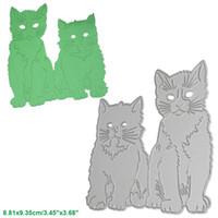 Wholesale Craft Stencils - Persian Cats DIY Metal Cutting Dies Stencil Scrapbook Card Album Paper Embossing Crafts