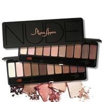 zehn make-up großhandel-MARIA AYORA Zehn Farben Lidschatten Makeup Shimmer Matte Lidschatten Erde Farbe Lidschatten-palette Kosmetik Make-Up Nude Augen