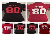 Wholesale High Quality Rice - Women's beautiful slim suitable rugby jerseys 16 Joe Montana 53 NaVorro Bowman 80 Jerry Rice wholesale cheap limited high quality jersey