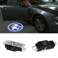 lazer logosu bmw açtı toptan satış-Hayalet Gölge Işık Hoşgeldiniz Lazer Projektör Işıklar LED Araba Kapı Logo BMW M E60 M5 E90 Için F10 X5 X3 X6 X1 GT E85 M3