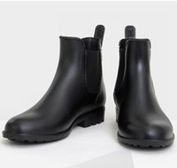 Wholesale Ankle Wellies - New Men Fashion Elastic Band Non Slip Rain Boots Male Short Ankle Rainboots Waterproof Water Shoes Wellies TR200